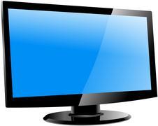 lcd tv monitor, vector illustration - stock illustration