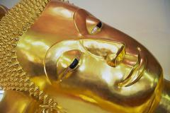 Exterior detail of the buddha statue in Nakhom Pathom, Thailand. Stock Photos