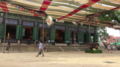 Courtyard At The Jogyesa Temple In Seoul South Korea Stock Footage