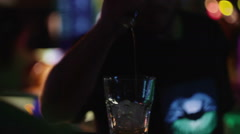 Bar in night club Stock Footage