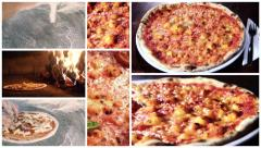 Delicious pizza montage Stock Footage