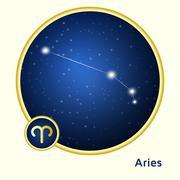 Aries constellation Stock Illustration
