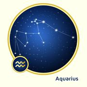 Aquarius constellation Stock Illustration