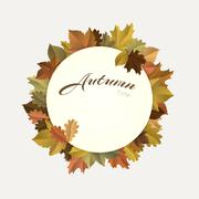 Autumn decoration Stock Illustration