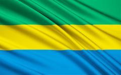 Stock Illustration of Flag of Gabon, Libreville