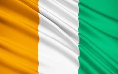 Flag of Ivory Coast - West Africa Stock Illustration
