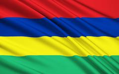 Flag of Mauritius, Port Louis Stock Illustration