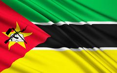 Flag of Mozambique, Maputo - stock illustration