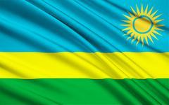 Flag of Rwanda, Kigali - stock illustration