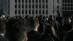 Large crowd of unidentifiable pedestrians in London 4K  - 05 Stock Footage