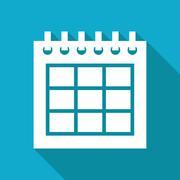 Vector calendar icon. Epswhite flat0 Stock Illustration