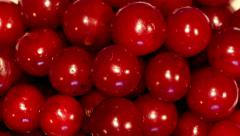 4k – A lot of cherry on plate Stock Footage