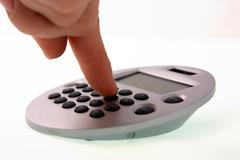 typical calculator for the mathematical calculations - stock photo