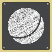 Vector ball icon - stock illustration