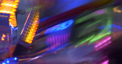 Luna park carousel at night Stock Footage