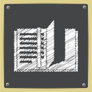 Vector notebook icon. Eps10 Stock Illustration