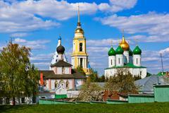 Churches in Kolomna Kremlin - Moscow region - Russia - stock photo