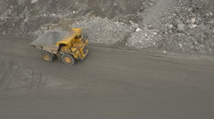 A loaded dump truck Stock Footage