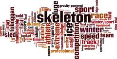 Skeleton word cloud Stock Illustration