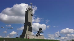 The Victory Monument (in 4k) in Veliky Novgorod, Russia. Stock Footage