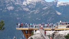 Mountain viewing deck Stock Footage