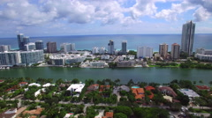 Aerial tour Miami Beach 2 Stock Footage