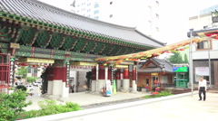 Scene From The Jogyesa Temple In Seoul South Korea Stock Footage