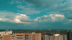 Stock Video Footage of Cloudscape time lapse over distant city