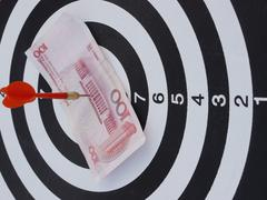 Dart target aim Stock Photos