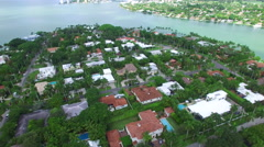 Luxury mansions on La Gorce Island 2 Stock Footage