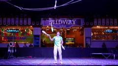 Circus Circus Juggler - stock footage