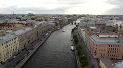 View of historic centre of St. Petersburg, Russia Stock Footage