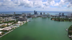 Flying over Miami Beach 2 Stock Footage