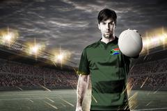 South African rugby player Stock Photos