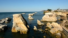 Islands off of Pismo Beach California Stock Footage