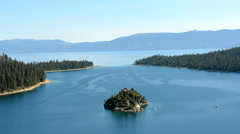 Emerald Bay at Lake Tahoe - stock footage