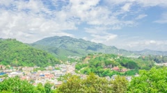 Looking from a high building to Burma Stock Footage