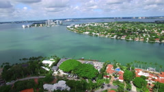 Normandy Isles Miami Beach FL aerial video Stock Footage