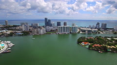 Aerial tour Miami Beach Stock Footage