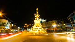 Clock tower in Chiang Rai Stock Footage