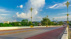 Road in Chiang Rai Stock Footage