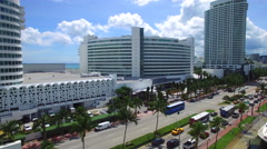 Aerial video Fontainebleau Hotel Stock Footage
