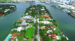 Allison Island Miami Beach aerial video 2 Stock Footage