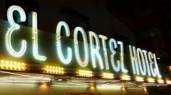 El Cortez Hotel Sign Las Vegas Stock Footage