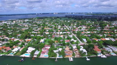 Normandy Isles Miami Beach FL aerial video 2 Stock Footage