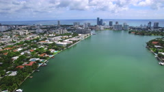 Flying over Miami Beach Stock Footage