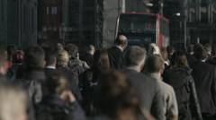Large crowd of unidentifiable pedestrians in London 4K   - 14 Stock Footage
