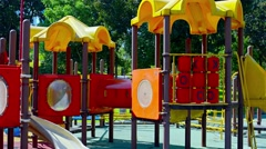 Safe and Modern Playground Fixtures at Kuala Lumpur City Park Stock Footage