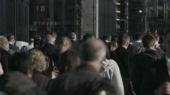 Large crowd of unidentifiable pedestrians in London 4K  - 15 Stock Footage