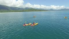 Hawaii Kayaker Half Circle Pan (Kaneohe Bay) Stock Footage